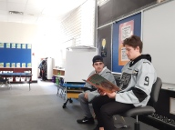 Reading to the students
